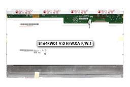 AU Optronics B164RW01 V.0 gyári új fényes 16,4'' WXGA++ HD (1600x900) CCFL laptop LCD kijelző (30 pin jobb felül)