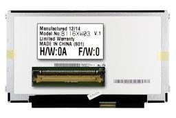 Gyári új matt 11.6'' HD (1366x768) LED laptop Slim kijelző (csatlakozó: 40 pin - jobb)