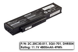 Benq JoyBook A52, C41, Packard Bell MH35 használt 6 cellás 60%-os helyetesítő laptop akku/akkumulátor (2C.20C30.011, SQU-701)