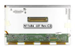 Gyári új matt 11.6'' HD (1366x768) LED laptop kijelző (csatlakozó: 40 pin - jobb)
