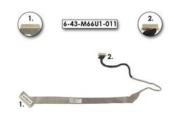 Clevo M660SU, M660SR laptophoz használt LCD kábel, 6-43-M66U1-011