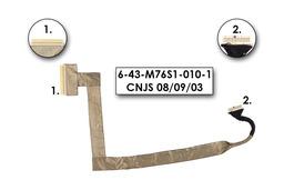 Clevo M761S, M761SU laptophoz használt LCD Kábel(6-43-M76S1-010-1, CNJS 08/09/03)