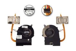 Compaq Presario CQ58, HP G58, 655 használt komplett laptop hűtő egység, 46020300-H17-G