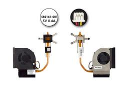 Compaq Presario CQ61, CQ71, HP G61, G71 használt komplett laptop hűtő ventilátor egység (KSB06105HA, 582141-001)