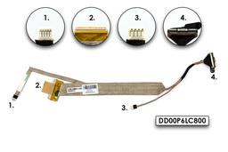Compaq Presario CQ61, HP G61 laptop gyári új CCFL LCD kijelző kábel, DD00P6LC800