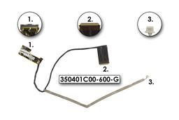 Compaq Presario CQ62, HP G62, G62T laptophoz (15,6 LED) gyári új LCD kábel, 350401C00-600-G