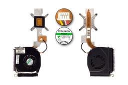 Compaq Presario F500, F700, HP G6000 használt komplett laptop hűtő ventilátor egység (449961-001, GC055515VH-A)