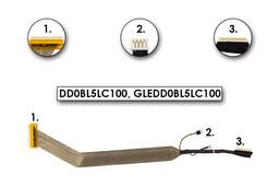 Toshiba Satelite A300, A300D, A305, A305D gyári új laptop LCD kábel (kamera csatlakozó nélkül) (DD0BL5LC100)