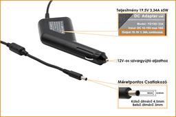 Dell 19.5V 3.34A 65W helyettesítő új autós laptop töltő (YD195-334)