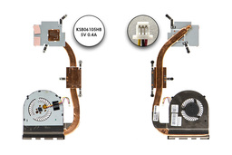 Dell Inspiron 15 (3542, 3543), 17 (5748) használt komplett laptop hűtő ventilátor egység (discrete) (0MFR38, KSB06105HB)
