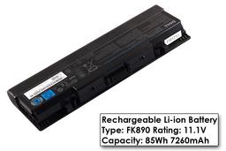Dell Inspiron 1520, 1720, Vostro 1700 gyári új 9 cellás laptop akku/akkumulátor  TYPE FK890, UW280