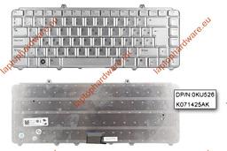 Dell Inspiron 1525,1526,XPS M1330 használt magyar ezüst laptop billentyűzet(0KU526)
