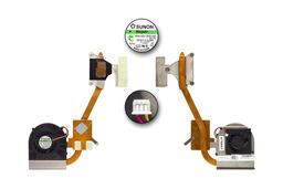Dell Inspiron 15R N5010 használt komplett hűtőegység (NC4TX)