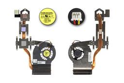 Dell Inspiron 1750 gyári új laptop hűtő ventilátor egység (RJNY4, DFS531205MC0T)
