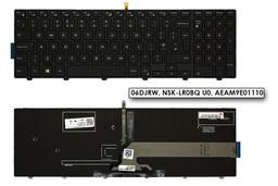 Dell Inspiron 3542, 3550, 5555, 5748 gyári új fekete UK angol háttér-világításos laptop billentyűzet (06DJRW, NSK-LR0BQ U0, AEAM9E01110)