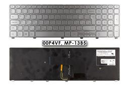 Dell Inspiron 3737 használt szürke háttérvilágításos magyar laptop billentyűzet, 00P4VF