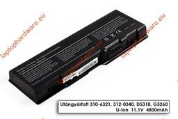 Dell Inspiron 6000, 9200, 9300  használt 95%-os 6 cellás laptop akku/akkumulátor (D5318)