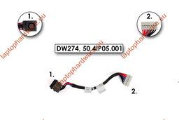 Dell Inspiron M5040, N5040, N5050 gyári új laptop DC tápaljazat kábellel (07DC46)