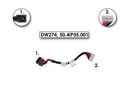 Dell Inspiron M5040, N5040, N5050 használt DC tápaljazat kábellel (50.4IP05.001)