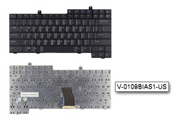 Dell Latitude D600 fekete US angol laptop billentyűzet