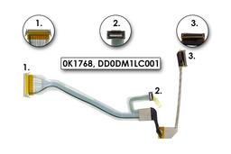 Dell Latitude D505, Inspiron 510m laptopokhoz használt LCD kábel,0K1768