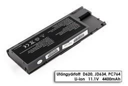 Dell Latitude D630 laptop akkumulátor, új, gyárival megegyező minőségű helyettesítő, 6 cellás (4400mAh - 5200mAh)