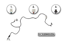 Dell Latitude D620, D630 laptophoz használt MODEM kábel (DC020003Z0L,DC02000CS0L)