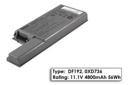 Dell Latitude D820, D830 6 cellás Gyári laptop akku/akkumulátor  TYPE DF192, DPN 0XD736