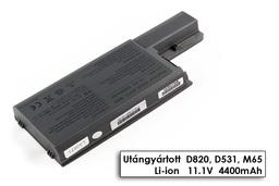 Dell Latitude D820, D830, Precision M65 helyettesítő új 6 cellás laptop akku/akkumulátor (CF623)