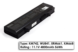 Dell Latitude E5400, E5410, E5500 gyári új 6 cellás laptop akku/akkumulátor (KM742)