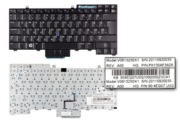 Dell Latitude E6410 fekete magyar laptop billentyűzet