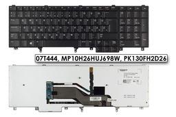 Dell Latitude E5520, E5530, E6520 gyári új magyar LED háttér-világításos laptop billentyűzet (Win8, 7T444)
