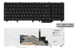 Dell Latitude E5520, E5530, E6520 gyári új orosz/angol LED háttér-világításos laptop billentyűzet (Win8) (07T428)