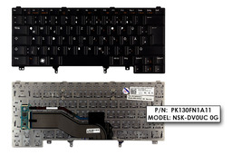 Dell Latitude E6330 fekete német  laptop billentyűzet
