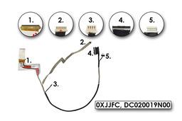 Dell Latitude E6420 gyári új laptop LCD kijelző kábel, 0XJJFC
