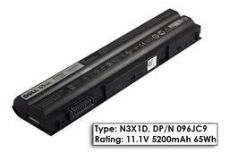 Dell Latitude E6530 laptop akkumulátor, gyári új, 6 cellás (5200-5500mAh)