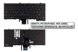 Dell Latitude E7440 gyári új magyar LED háttér-világításos laptop billentyűzet (Win8, 00451N)