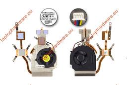 Dell Studio 1555 laptophoz használt komplett hűtő ventilátor egység diszkrét VGA-s gépekhez (Y140J)