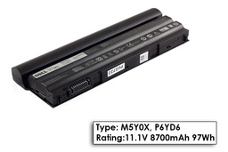 Dell Vostro 3460, 3560 gyári új 9 cellás 97Wh laptop akku/akkumulátor (TYPE: M5Y0X, P6YD6, XV2VV)