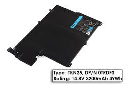 Dell Vostro 3360, Inspiron 13Z-5323, 5323 gyári új 4 cellás 49Wh laptop akku/akkumulátor (TYPE TKN25, 0TRDF3)