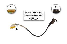 Dell XPS 15Z L511Z gyári új laptop LCD kijelző kábel (DD0SS8LC010, DP/n: 0N6MMX)