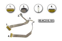Dell XPS M1330 laptophoz használt LCD kijelző kábel, 50.4C310.101
