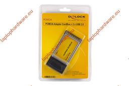 Delock PCMCIA  használt bővítő kártya  2 x USB 2.0, 61604