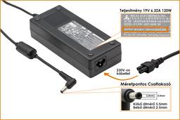 Fujitsu-Siemens Amilo A7620 19V 6,3A 120W-os laptop töltő