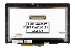 LCD kijelző modul (fényes) Lenovo Yoga 13 tablet / laptop hibridhez (04W3519, LP133WD2-SLB1)