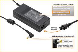 Fujitsu-Siemens Amilo Li3710 20V 4,5A 90W-os laptop töltő