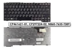 Fujitsu Lifebook E780, T5010, T730 használt UK angol fekete laptop billentyűzet, CP461621-01