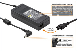 Fujitsu-Siemens Amilo 20V 4.5A 90W gyári új laptop töltő (PA-1900-05, LSE0202D2090)
