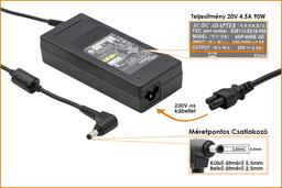 Fujitsu-Siemens Amilo M3438 20V 4,5A 90W-os laptop töltő