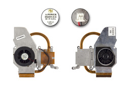 Fujitsu-Siemens Amilo D1840, D1845 használt komplett laptop hűtő ventilátor egység, 40-UD7042-00